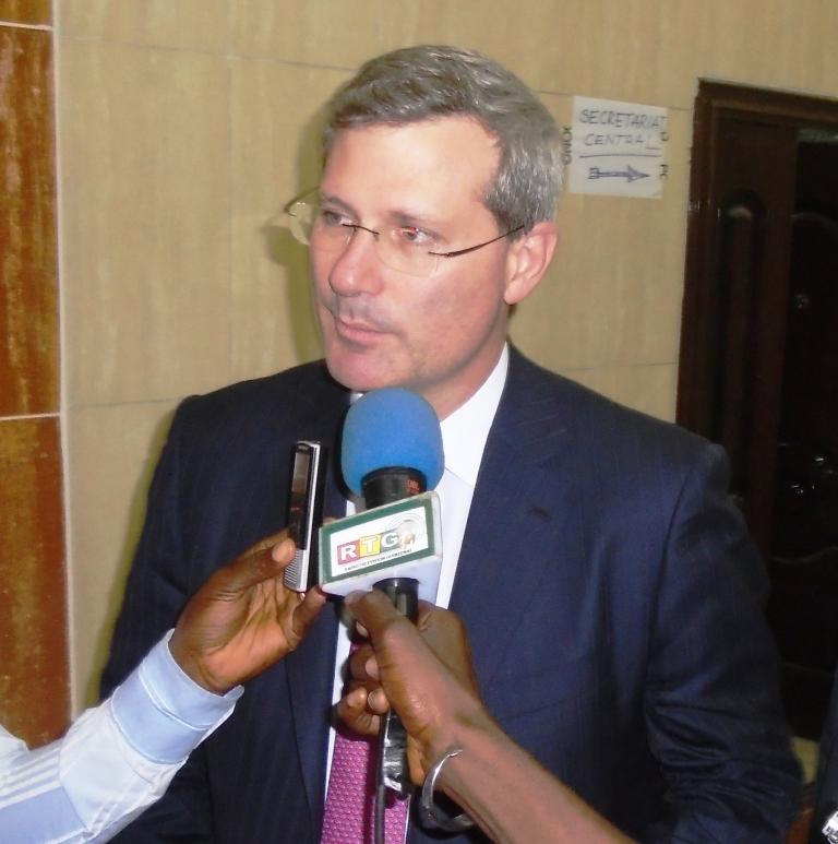 M.Alan DAVIES, Vice-Président du Groupe RIO TINTO. Photo: Fatoumata Chérif