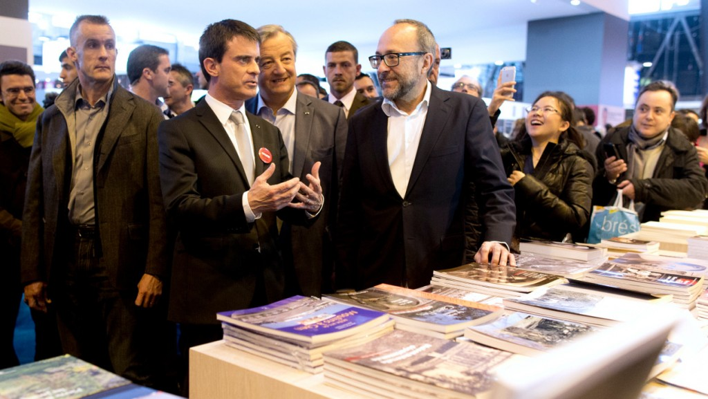 Le Premier Ministre Manuel VALLS au SDL 2015.image bfmtv