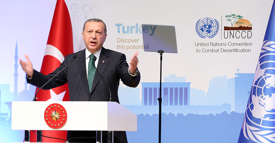 Recep Tayyip Erdoğan, the President of the Republic of Turkey, opened the High-Level Segment. Photo: iisd