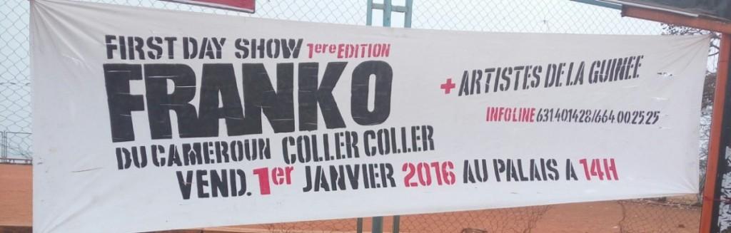 Banderole d'annonce sur l'arrivée de Franko