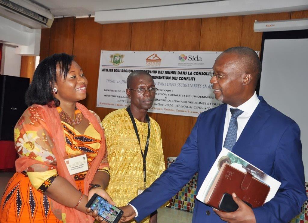 Avec le coordonnateur du systeme des nations unies en Cote D'Ivoirez-MBaye Babacar CISSE