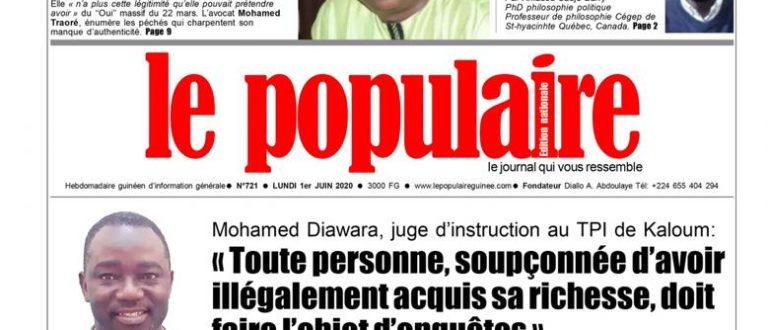 Article : Les grands titres de votre hebdomadaire »Le Populaire»