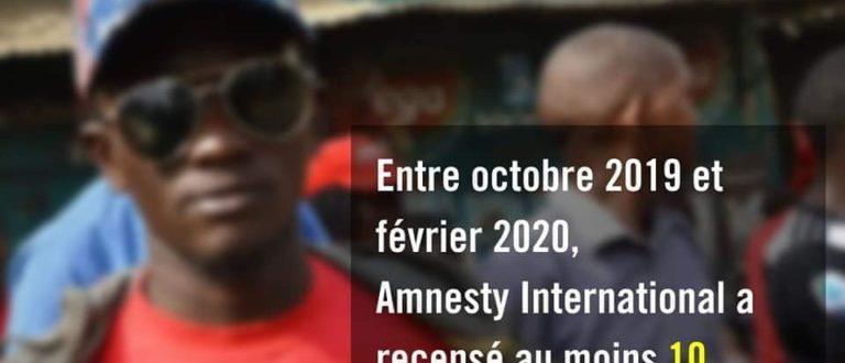 Article : Amnesty publie un rapport sur les violations des Droits humains en Guinée